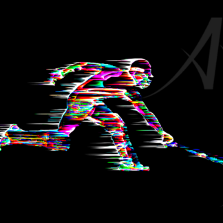 Cricket batsman reaching for crease digital art