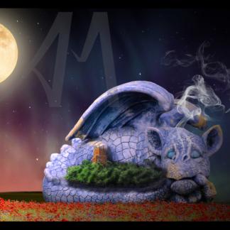 Baby dragon asleep around Faringdon Folly
