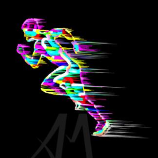 sprinter - digital art movement and colours