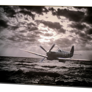 Digital art Spitfire under the radar aluminium print
