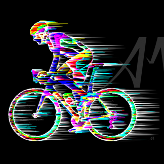 digital road cyclist