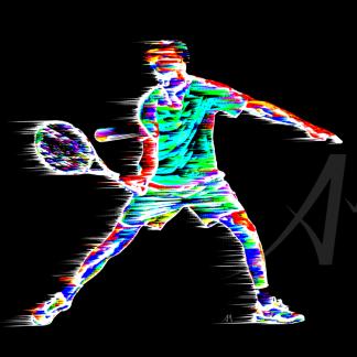 Tennis Player Digital Art
