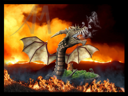 Faringdon Folly guarded by fiery dragon
