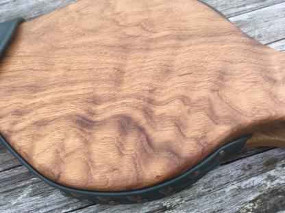 rare oak ripple bellows detail