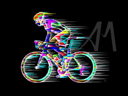 digital road cyclist